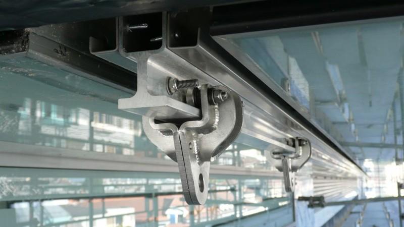 Ligne de vie sur tube aluminium