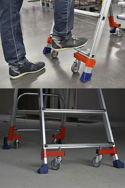 Marchepied Wheelys en appui sur les patins
