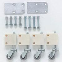 Kit de roues escamotables à frein pour marchepied Modul