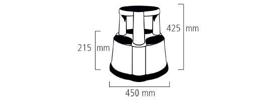 Schéma du marchepied tabouret