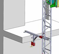 Serre joint balcon castor steel