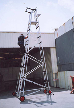 Utilisation de la nacelle sur un chantier