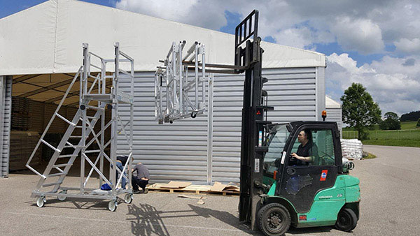 assemblage plateforme container