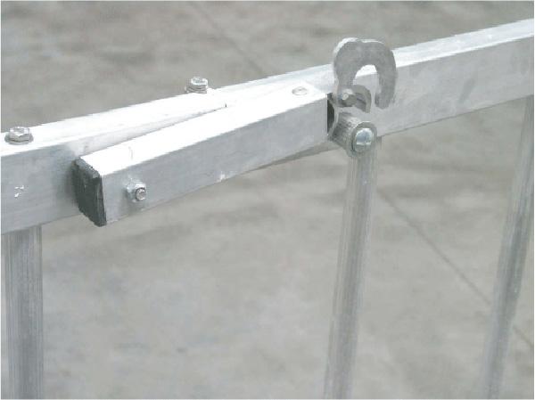 chiusura piattaforma alluminio