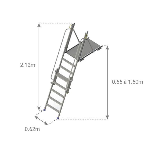dimensioni piattaforma accesso agli scavi N111 202