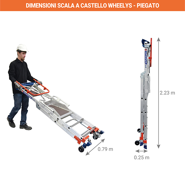 dimensioni scala piegato wheelys 501904