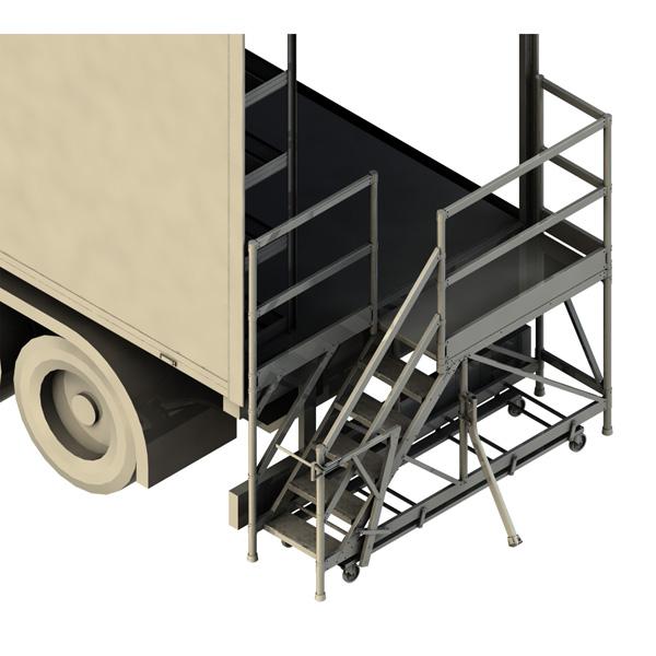 piattaforma accesso posteriore camione