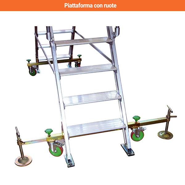 piattaforma alluminio DIVA90