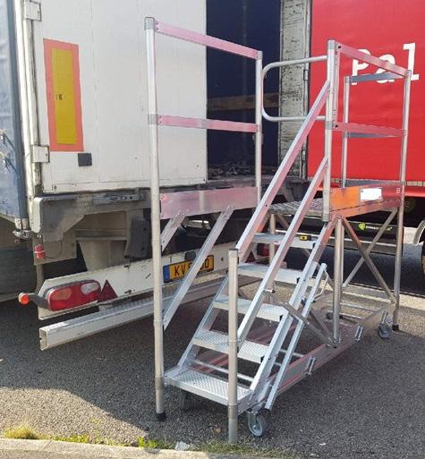 piattaforma alluminio posteriore camion