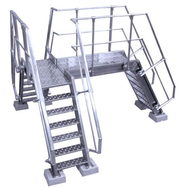 scala a ponte con piattaforma
