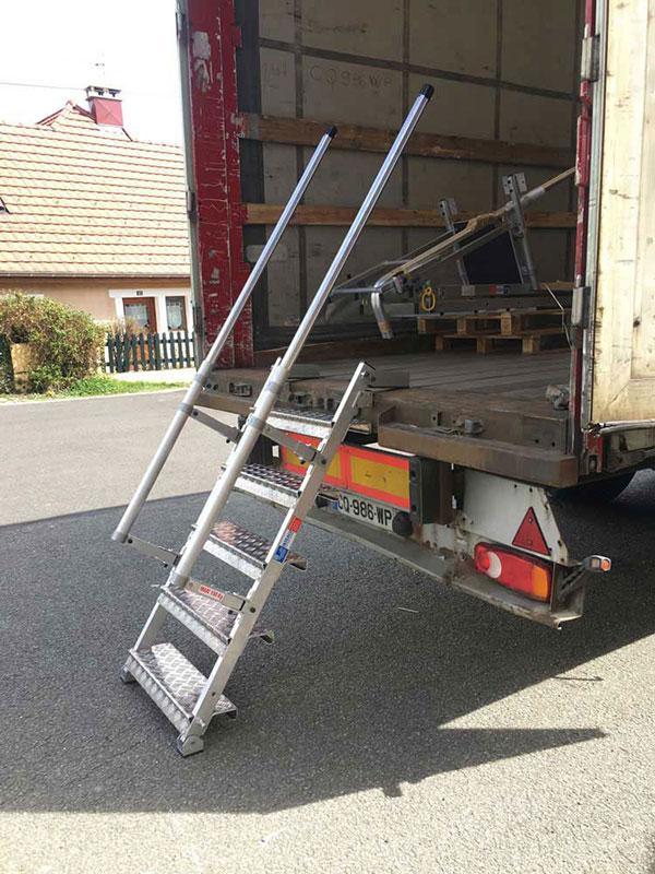 scala accesso camion dimostrazione