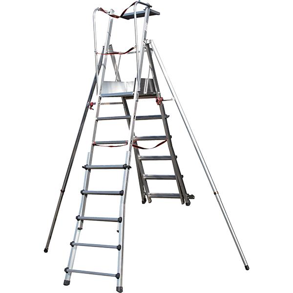escabeau pirl telescopique porte outils