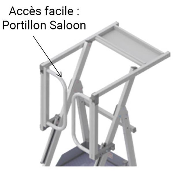 plateforme portillon saloon