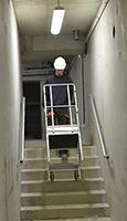 Circulation du PIRL dans les escaliers