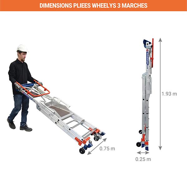 dimensions escabeau pliee wheelys 501903
