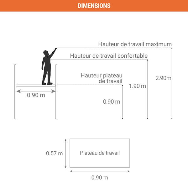 dimensions plateforme 9940 001