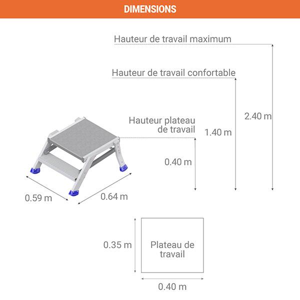 dimensions plateforme es1021
