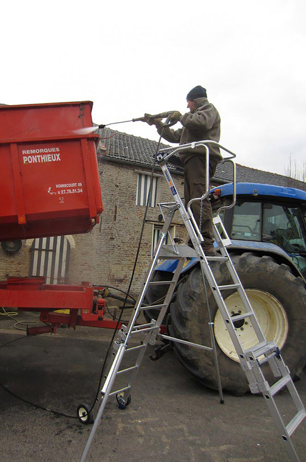 escabeau telescopique PIRL entretien vehicule