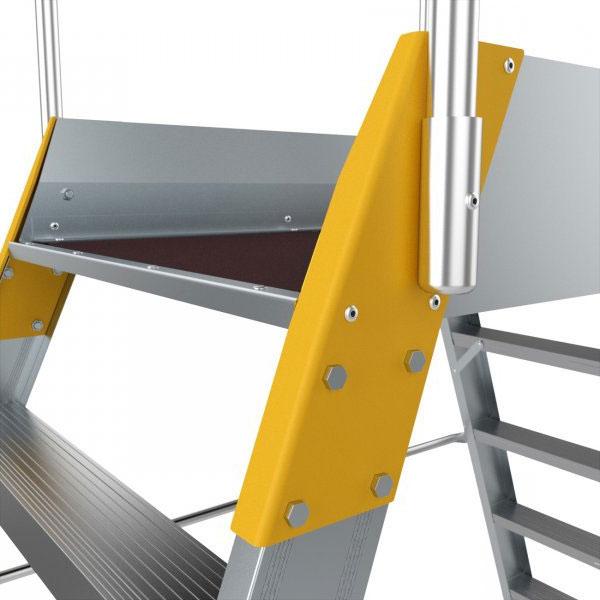 Plancher de la plateforme d'accès alu