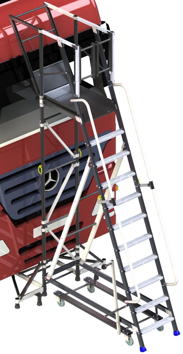 plateforme face cabine camion