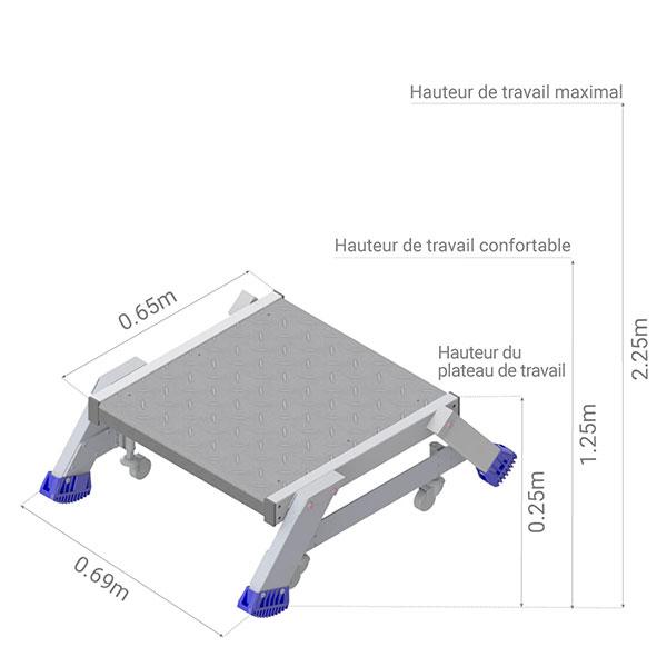 plateforme roulante es301 dimensions