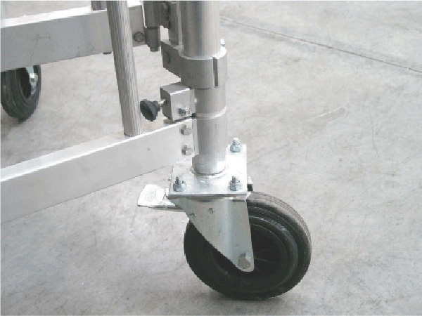roue plateforme alu