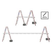 KIT : échelles double pour escaliers et plan de travail téle