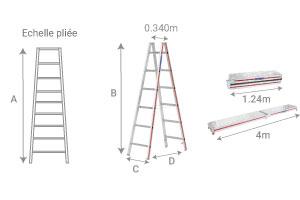 KIT échelles double et plan de travail télescopique