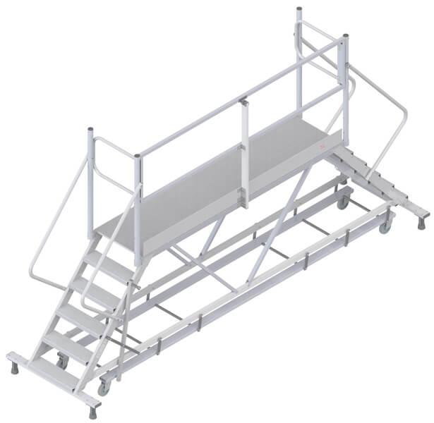 fahrbare Plattform Überstieg