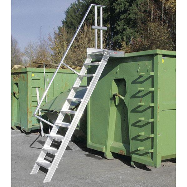 platform zugang aluminium behalter