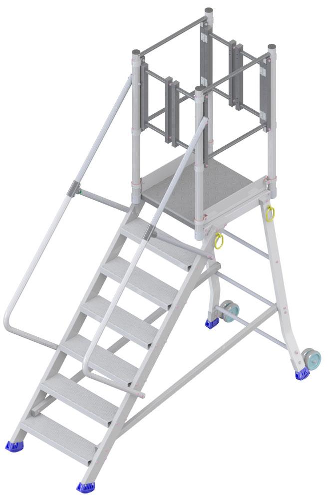 Plattformtreppe stirnseitiger Ausstieg