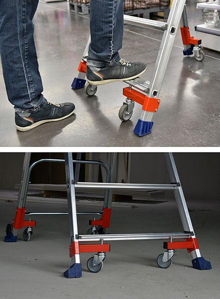 fuss mobile stehleiter wheelys 501903