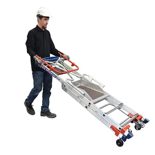 verdrangung mobile stehleiter wheelys 501903