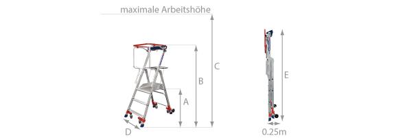 Fahrbare Plattformtreppe WHEELYS
