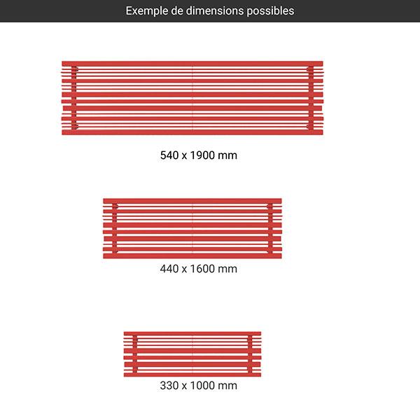 gamme radiateur acier sherwood horizontal couleur