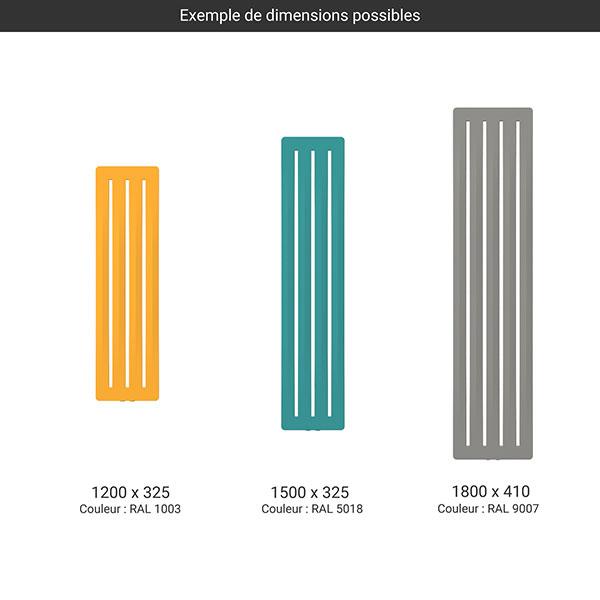 gamme radiateur aero couleur