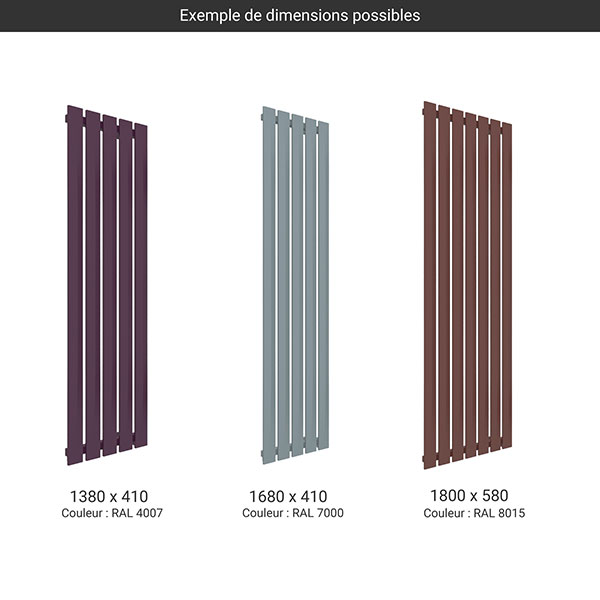 gamme radiateur pier couleur