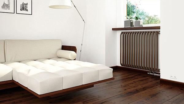 radiateur acier delfin marron