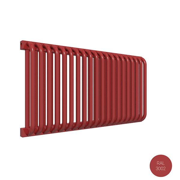 radiateur acier horizontal ral3002 delfinyl
