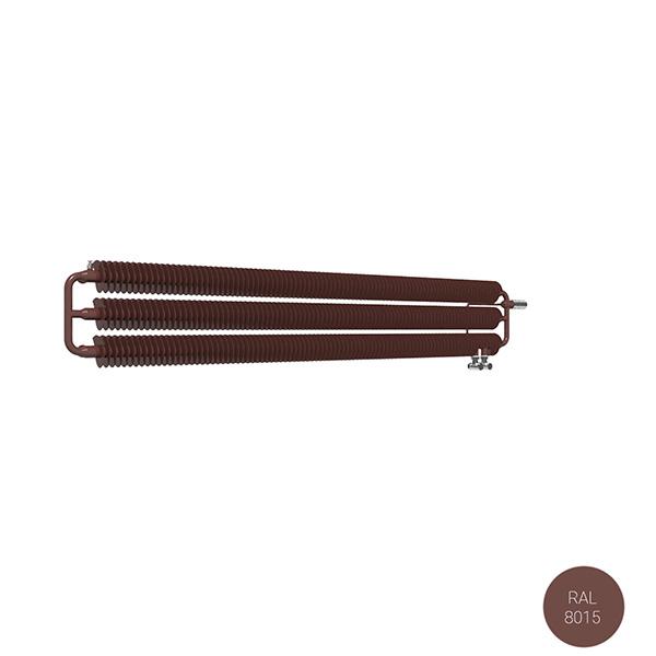 radiateur acier horizontal ral8015 ribbonhwsvp