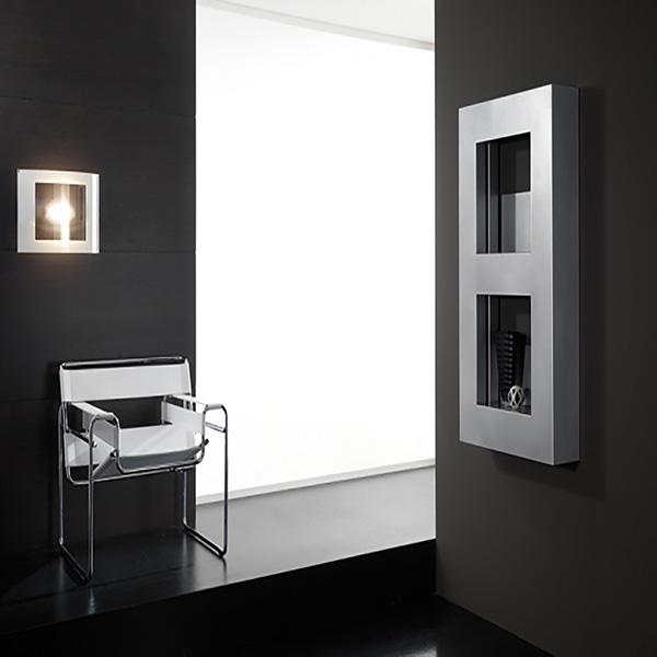 radiateur cube chrome