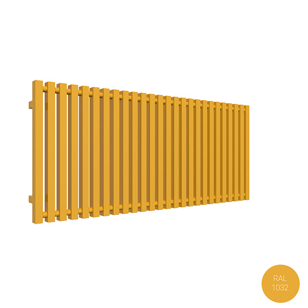 radiateur horizontal ral 1032 trigayl