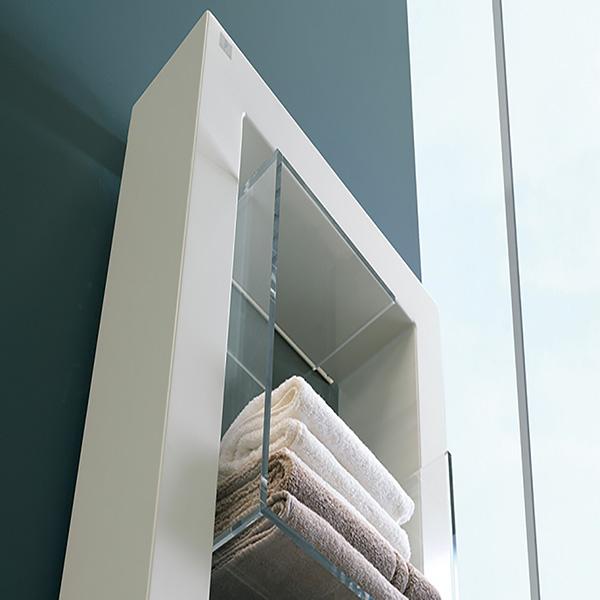 radiateur meuble chauffant boxes blanc zoom