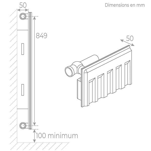 schema radiateur acier 11900