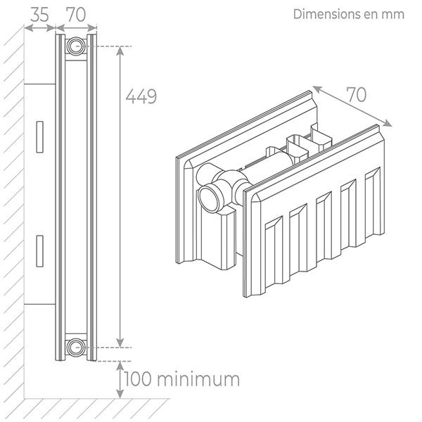 schema radiateur acier 21500