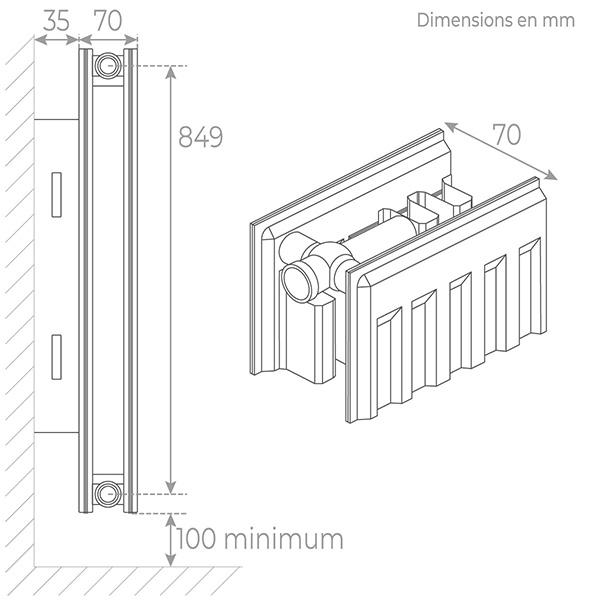 schema radiateur acier 21900