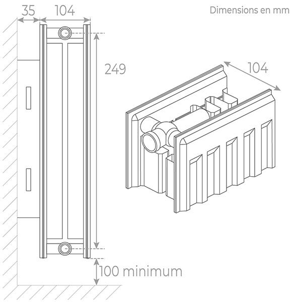 schema radiateur acier 22300