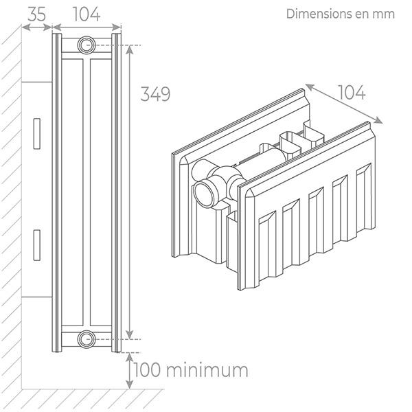 schema radiateur acier 22400