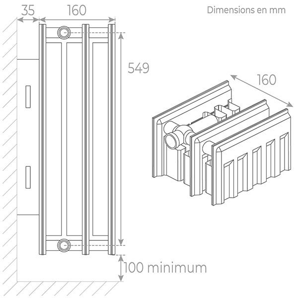 schema radiateur acier 33600