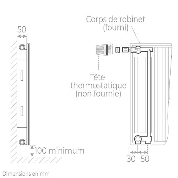 schema radiateur acier robinneterie 11900